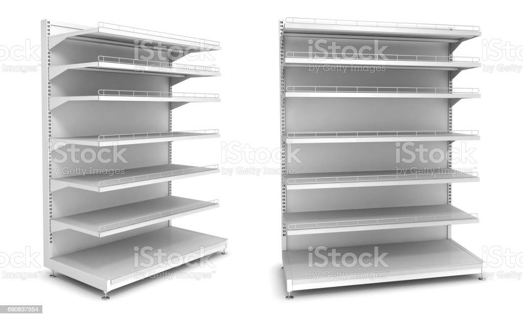 Sección de supermercado estante. - foto de stock