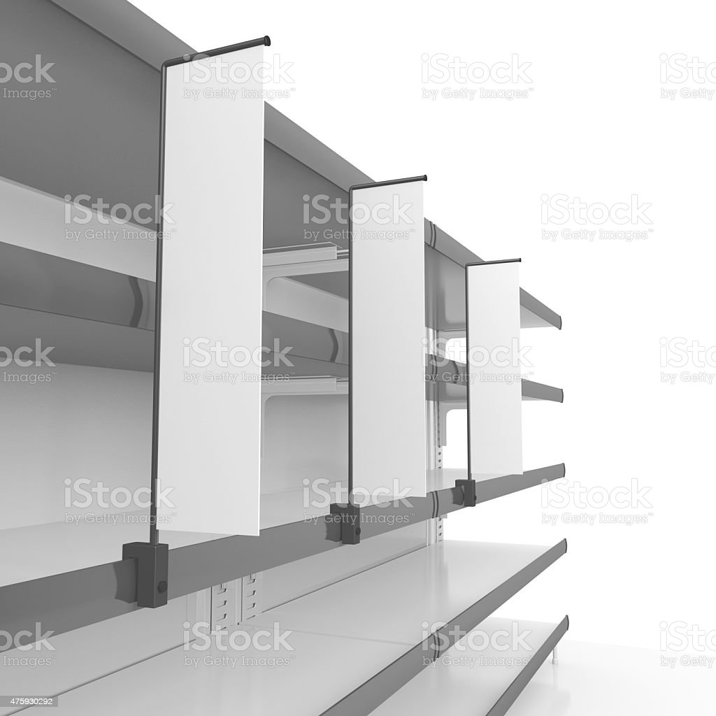 shelf with flags stock photo