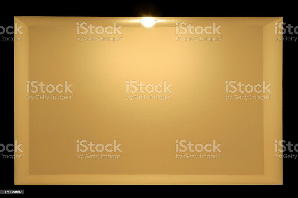 Shelf with lighting royalty-free stock photo