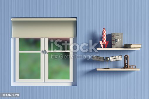 1151171813 istock photo shelf with objects 466873028