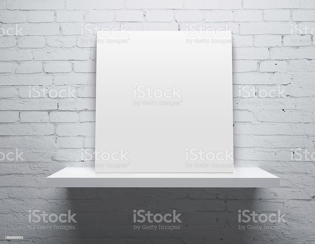 shelf with poster royalty-free stock photo