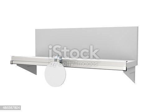 istock shelf with single wobbler 485387804
