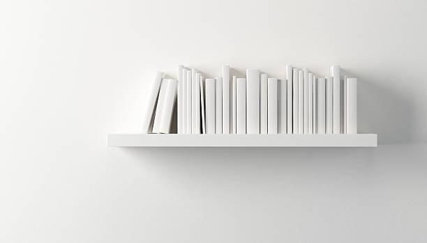棚にホワイトの書籍 ストックフォト