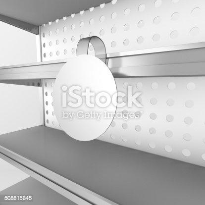 istock shelf with wobbler 508815645