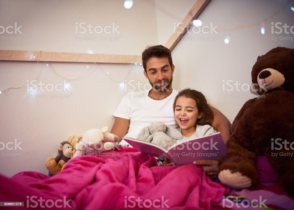 She'll be having lots of magical dreams tonight stock photo