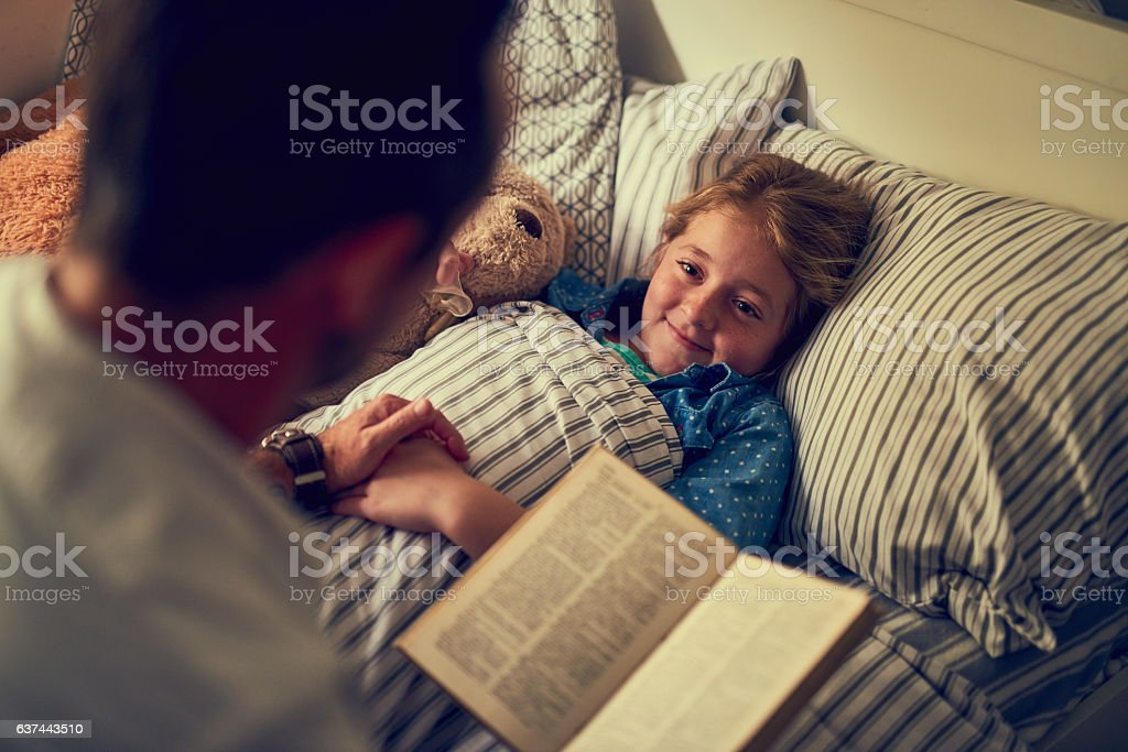 She'll be having some magical dreams tonight stock photo