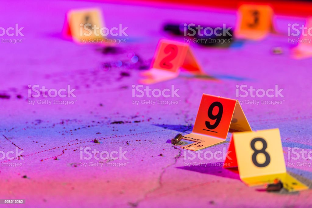 Shell Casing Evidence stock photo