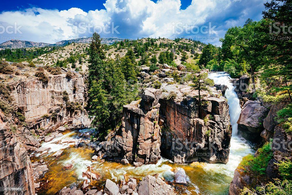 Shell Falls Bighorn National Forest Wyoming stock photo