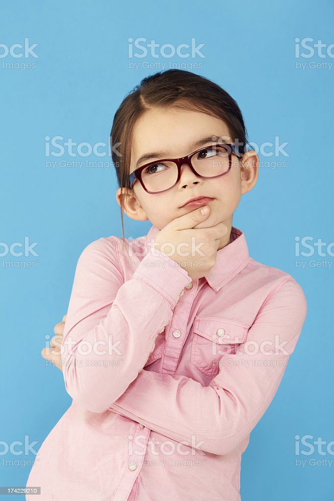 She'll figure it all out! stock photo