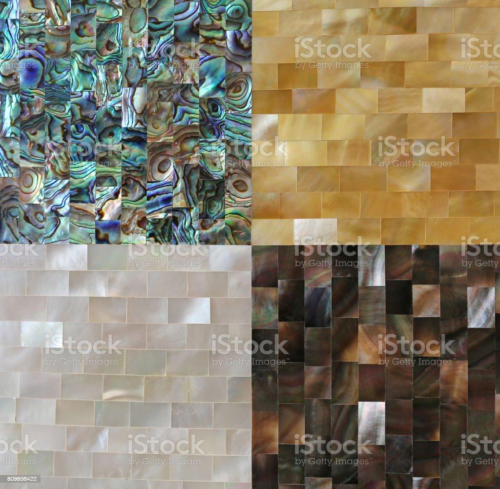 Shell fragments tiles. stock photo