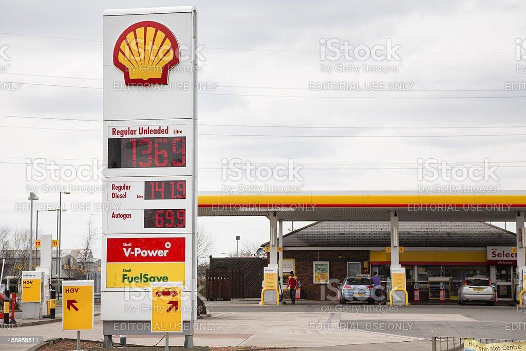 Shell Fuel, Glasgow stock photo
