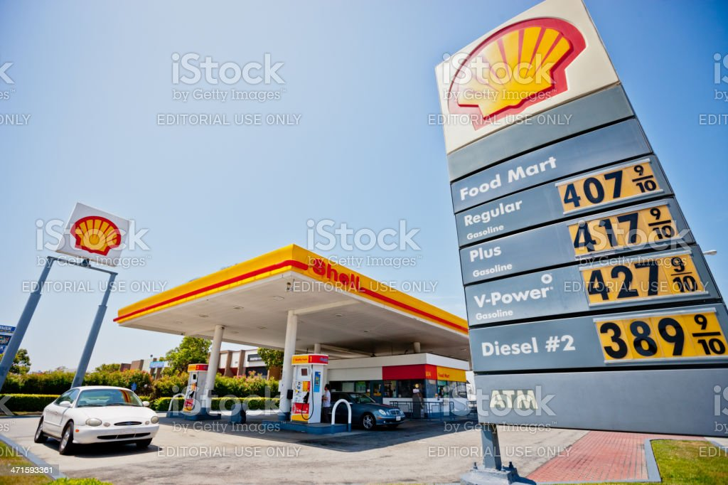 Shell Gas Station California Usa Stock Photo - Download Image Now