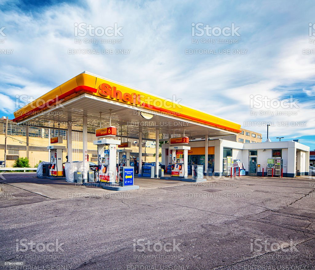 Shell gas station in Montreal Canada stock photo