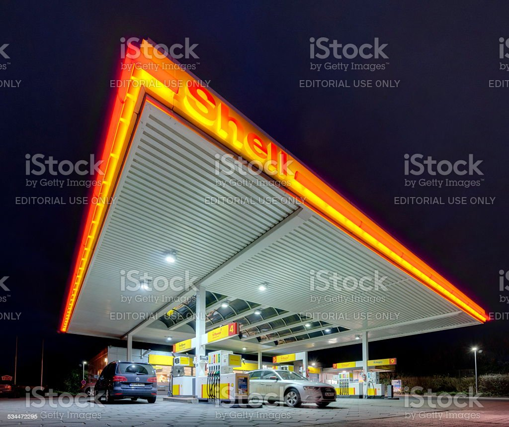 Shell gas station stock photo