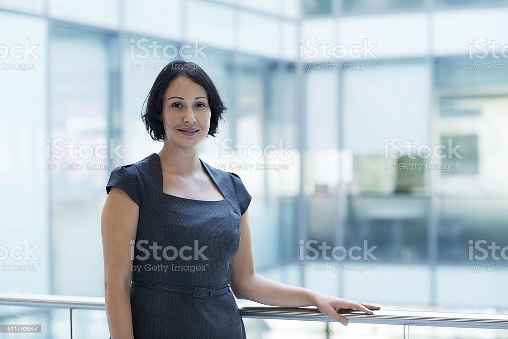 She'll go above and beyond the needs of your business stock photo