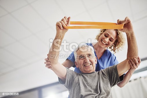 istock She'll have him rehabilitated in no time 610436358