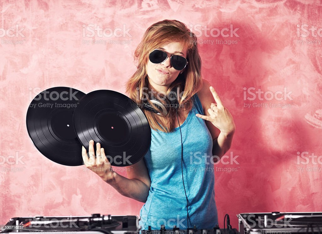 She'll keep you entertained stock photo