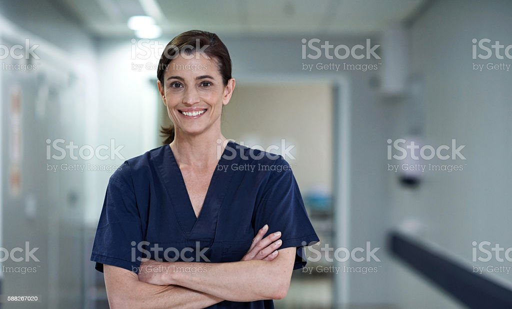 She'll leave you with an exceptional patient experience stock photo