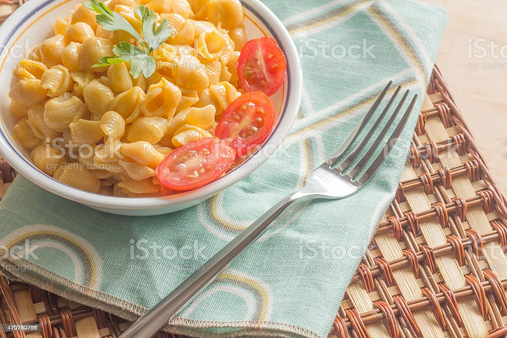 Shell Macaroni and Cheese stock photo