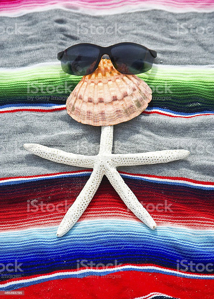 Shell man at the beach royalty-free stock photo