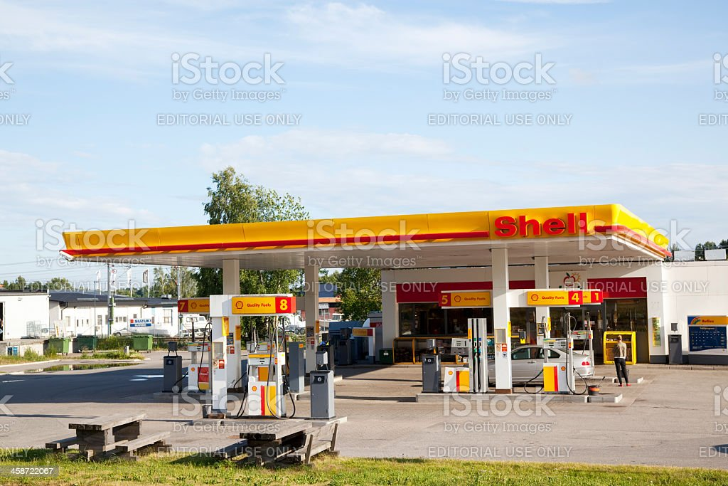 Shell Oil Company Gas Station stock photo