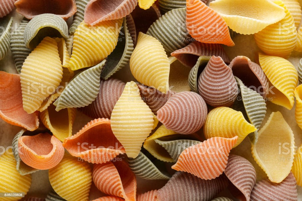 Shell Pasta Background stock photo