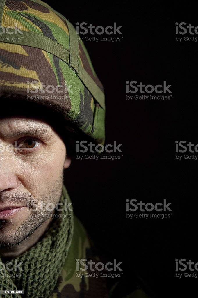 Shell Shocked Soldier royalty-free stock photo