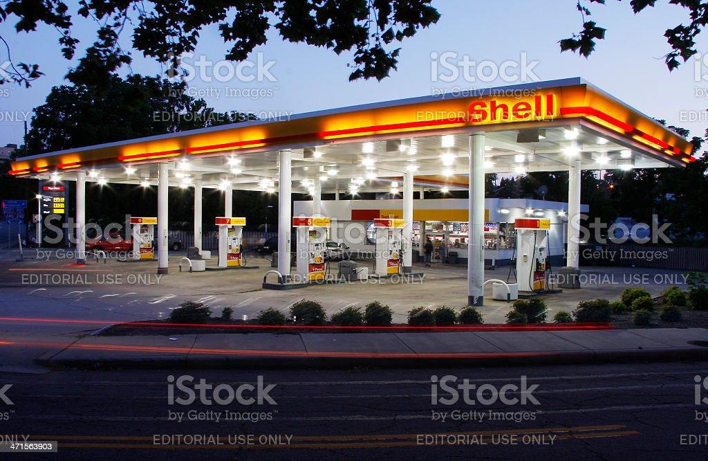Shell Station stock photo