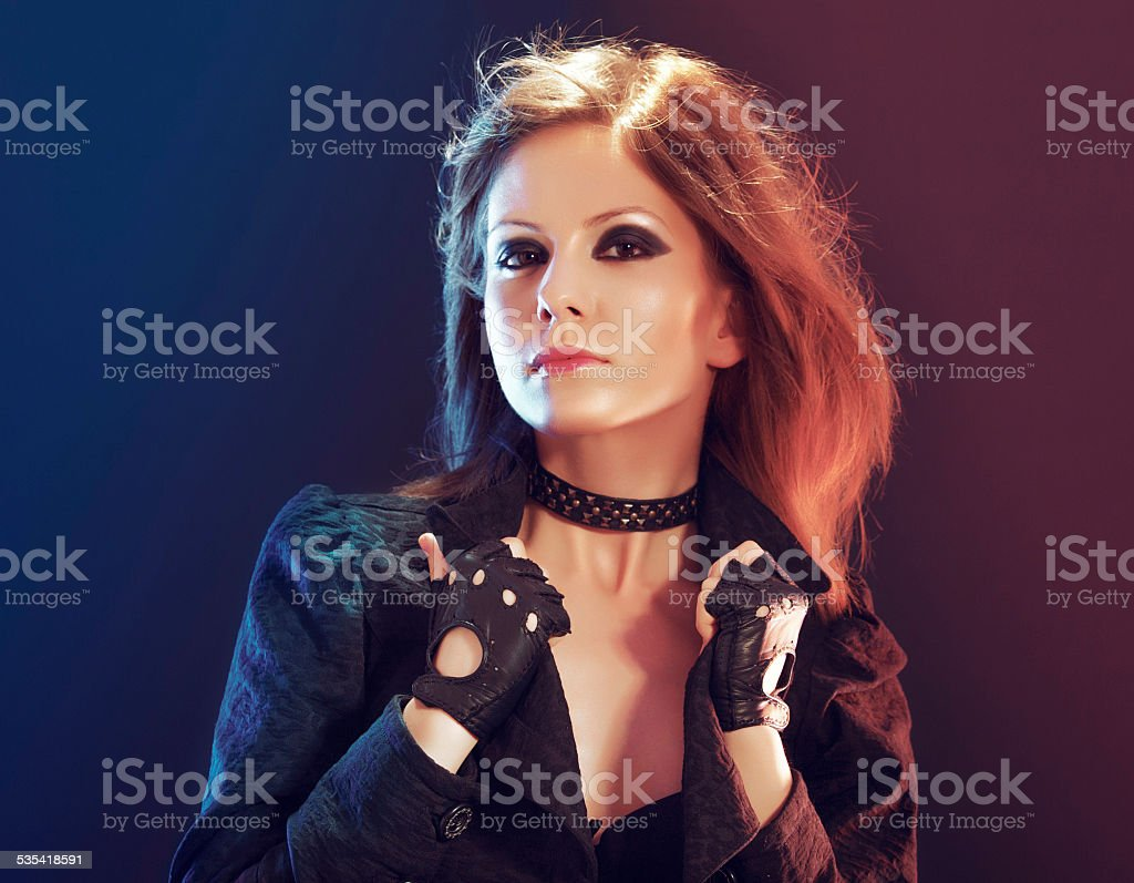 She'll take you on stock photo