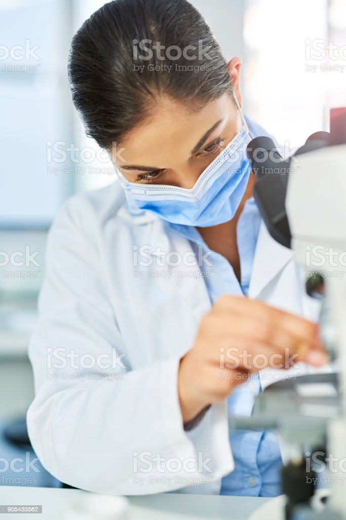 She'll uncover the truths of science stock photo