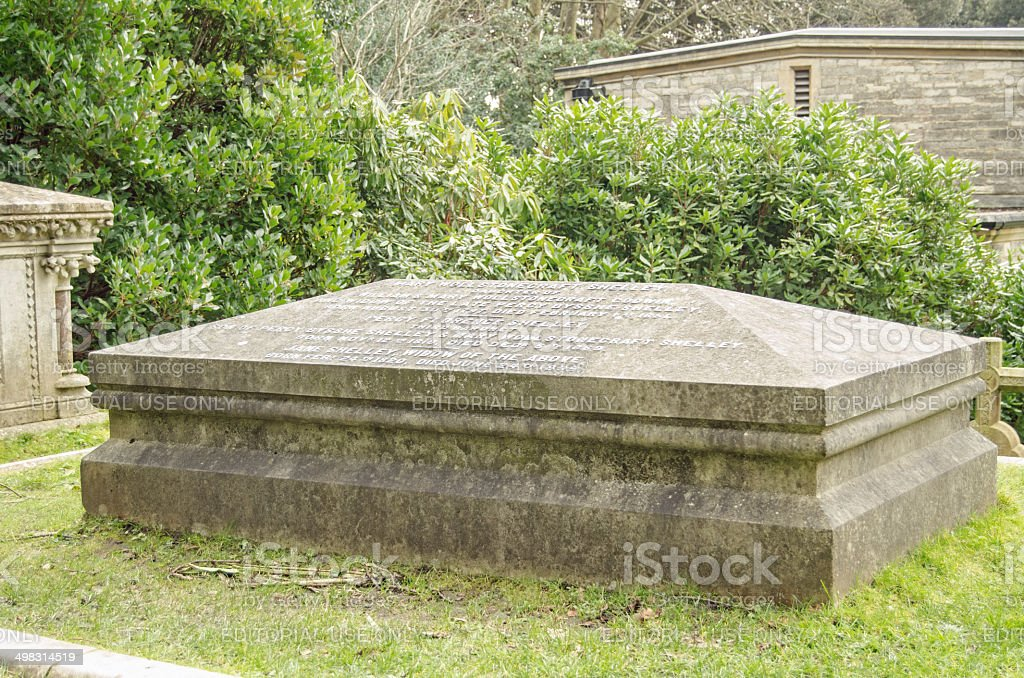 Shelley and Wollstonecraft grave, Bournemouth stock photo
