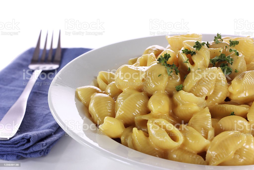 Shells and Cheese royalty-free stock photo