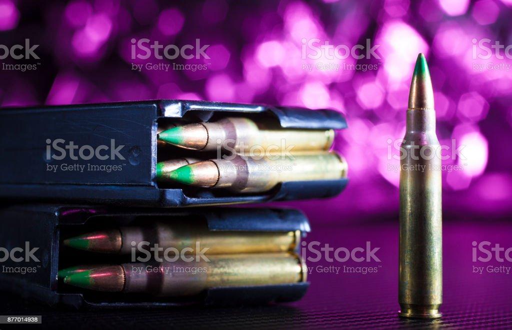AR-15 shells and magazines stock photo
