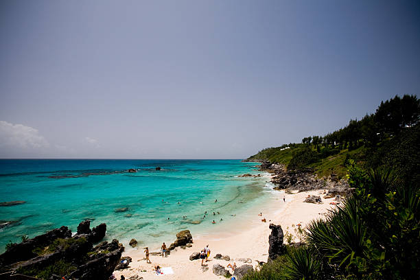 Shelly Bay Beach in Bermuda stock photo