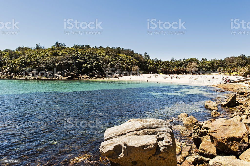 Shelly Beach viewed from Manly stock photo
