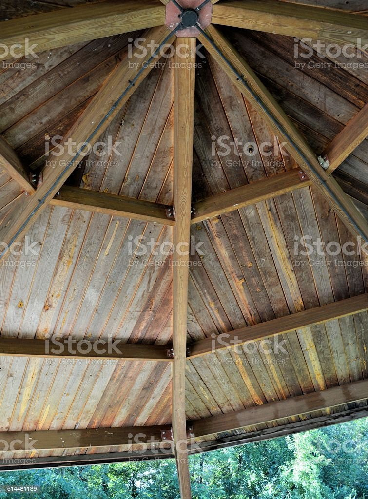 Shelter House Ceiling stock photo