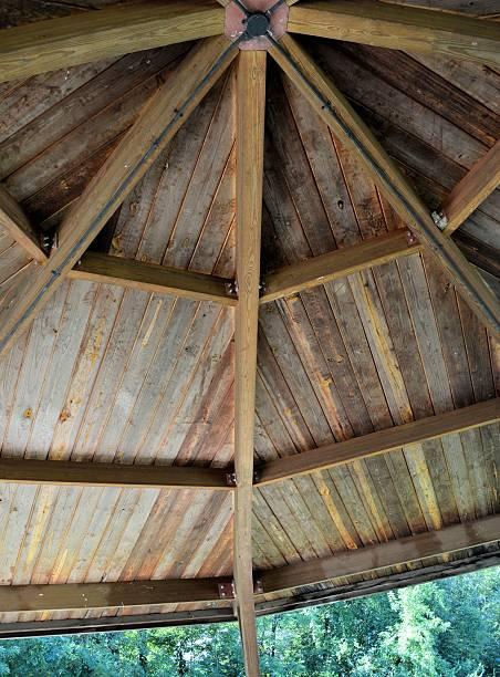 Shelter House Ceiling stock photo