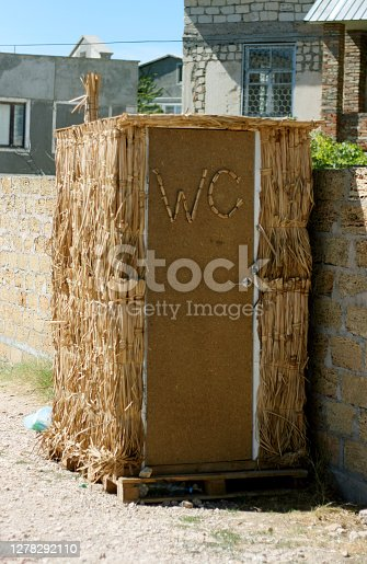 istock shelter made of straw changing room on the beach 1278292110