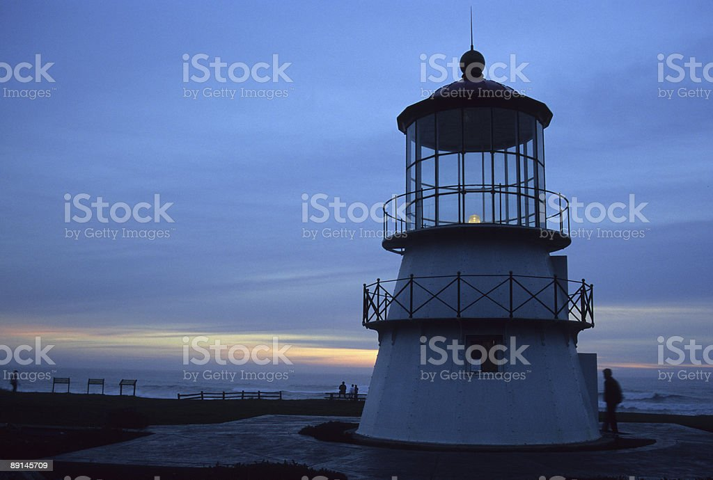 Shelter's Cove Lighthouse stock photo
