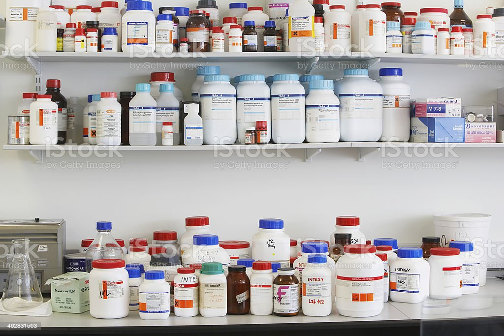 Shelves Full Of Medications stock photo