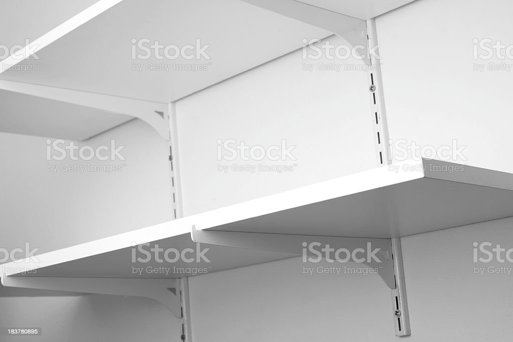 Shelves royalty-free stock photo