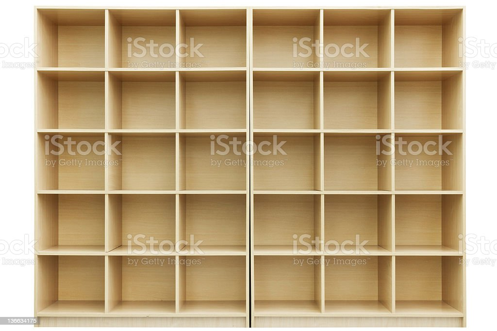 shelves, Small wooden box with cells stock photo