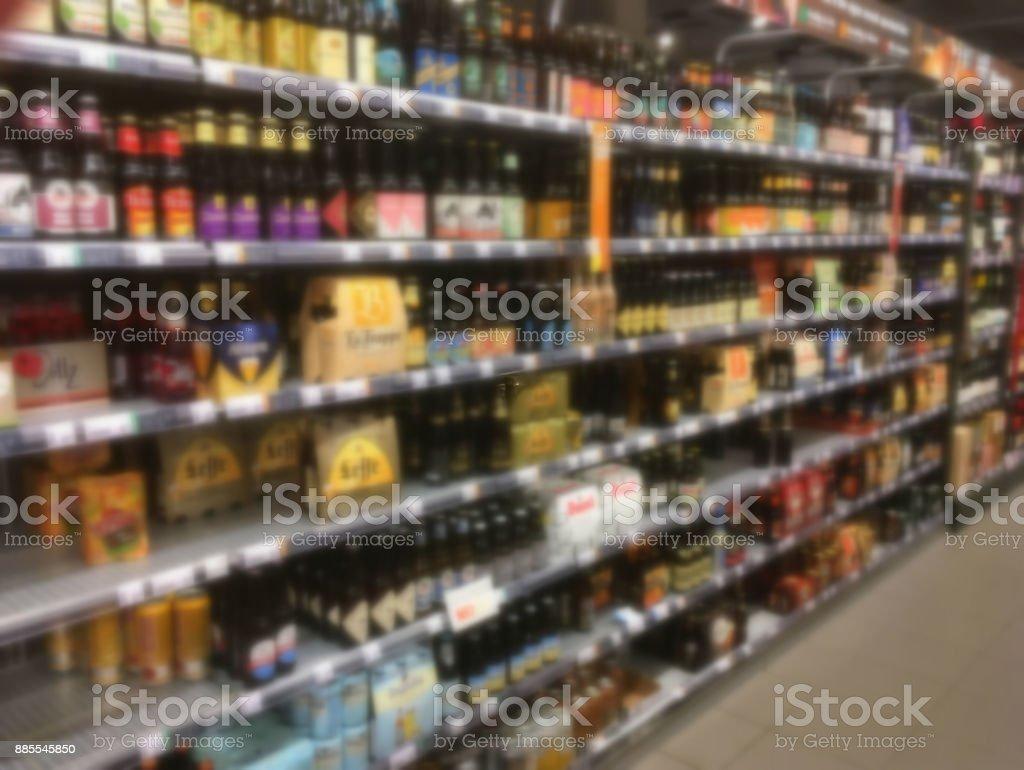啤酒瓶貨架圖像檔