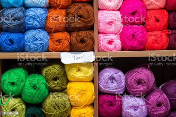 Shelves with colorful yarn balls in store picture id667946734?b=1&k=6&m=667946734&s=612x612&h= hxjyy jmgxkz1tzwqha qx2w4ir1jz86 vhckvv9yk=