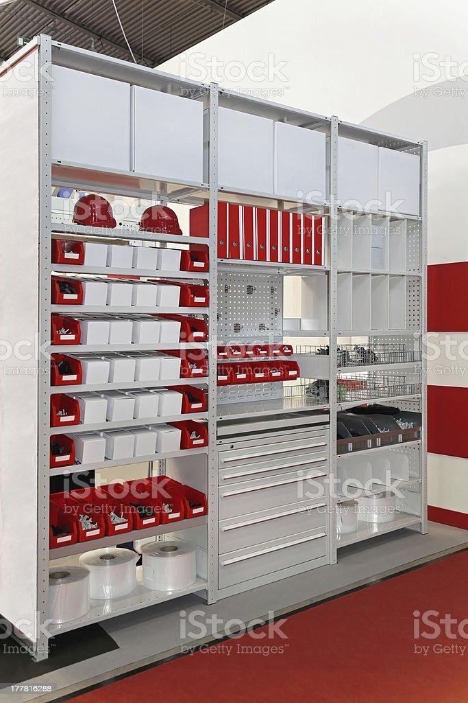 Shelving and racks stock photo