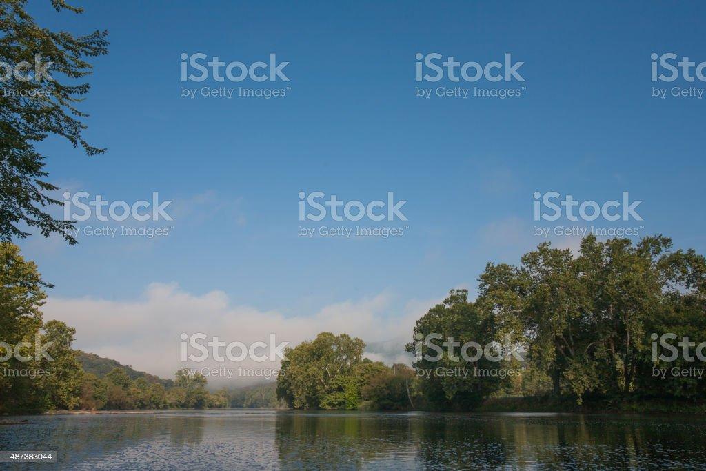 Shenadoah River in late summer stock photo