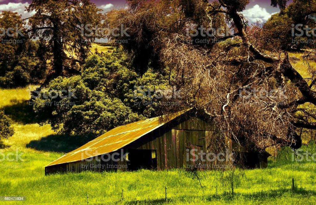 shenandoah barn royalty-free stock photo