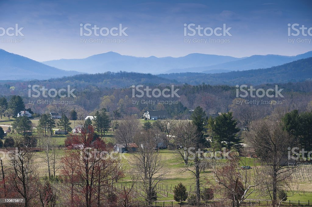 Shenandoah Valley on clear day stock photo