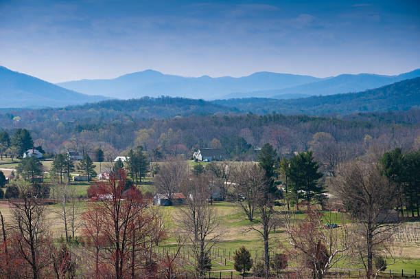 Shenandoah Valley on clear day Rural America at its best, East of the Blue Ridge Mountains, on the foothills of Appalachia is Afton, VA, one of America's best kept secrets, an amazing place. charlottesville stock pictures, royalty-free photos & images