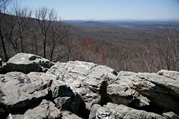 Shenandoah Valley on the Appalachian Trail stock photo
